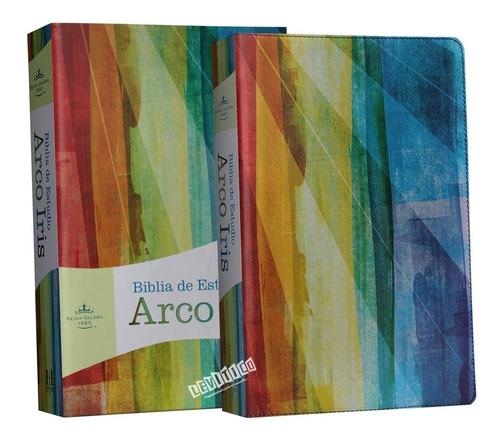 Imagen 1 de 3 de Biblia De Estudio Arcoiris Rvr1960, Multicolor Símil Piel
