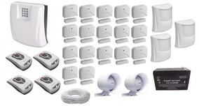 Kit Central De Alarme Gsm1000 Sulton C/ Sensores Sem Fio