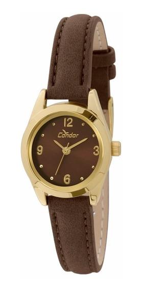 Relógio Condor Feminino Co2035kkz/2m Dourado Couro Oferta
