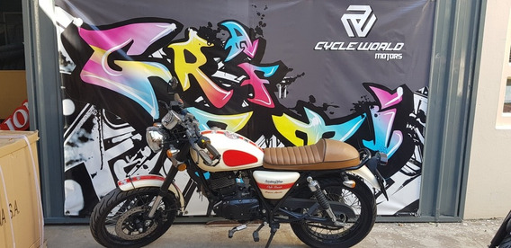 Moto Gilera Vc 200 Cafe Racer 2016 Impecable Beige Michelin