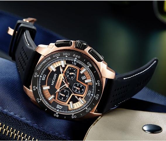Relógio Megir 2056 - Original - Novo - Cronógrafo