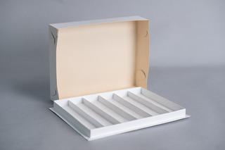Caja Para Masas 1kg C/ 6 Divisiones (5,2cm) 33,5x25,5x6cm (x50 U.) Sushi Saladitos Catering - 041b8 Bauletto