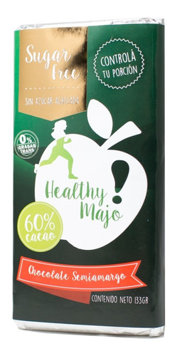 Chocolate Healthy Majo Amargo Cacao 60% S/azucar X133gr