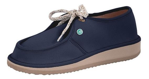 Sapato Casual Para Esporão E Fascite Mundoflex - Marinho