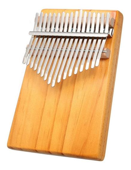 17 Chaves Mbira Bolso Instrumento Musical Piano Dedo Kalimba