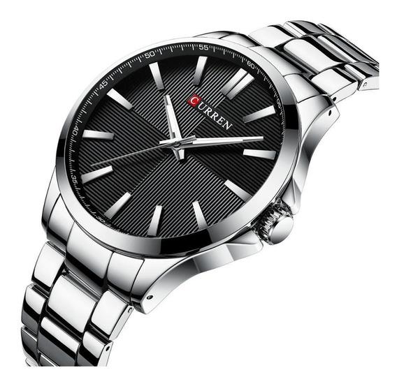 Relógio Masculino Prata Social Original Barato Com Garantia