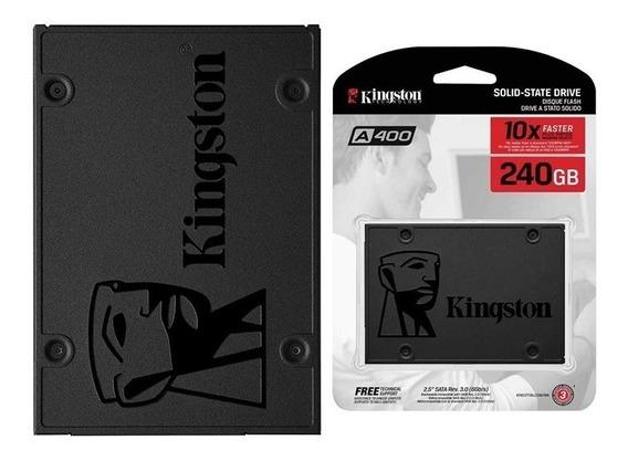 Ssd 240gb Kingston Sata 3 A400 2,5 Novo Lacrado Original