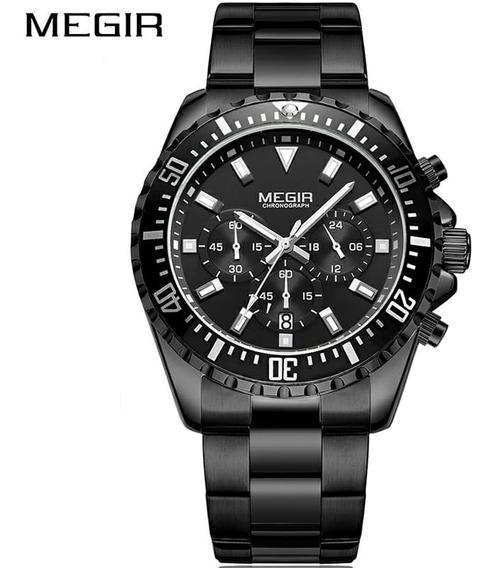 Relógio Megir Série Luxo-preto Faça Sua Oferta.