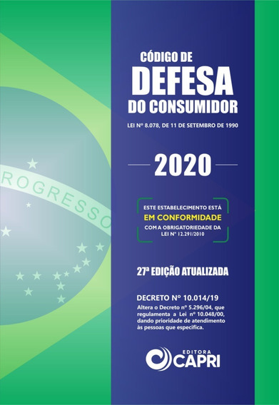 Livro Código De Defesa Do Consumidor 2020 + Placa Adesiva