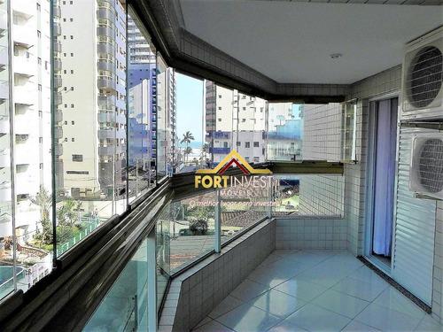 Apartamento Com 3 Dormitórios À Venda, 115 M² Por R$ 560.000,00 - Aviação - Praia Grande/sp - Ap1486