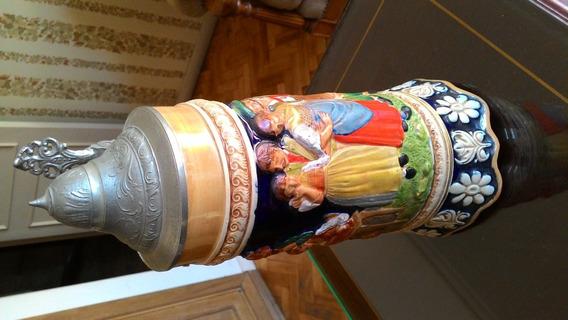 Palermo-antigua -reliquia Caja Musical Jarra Cerveza Alemana