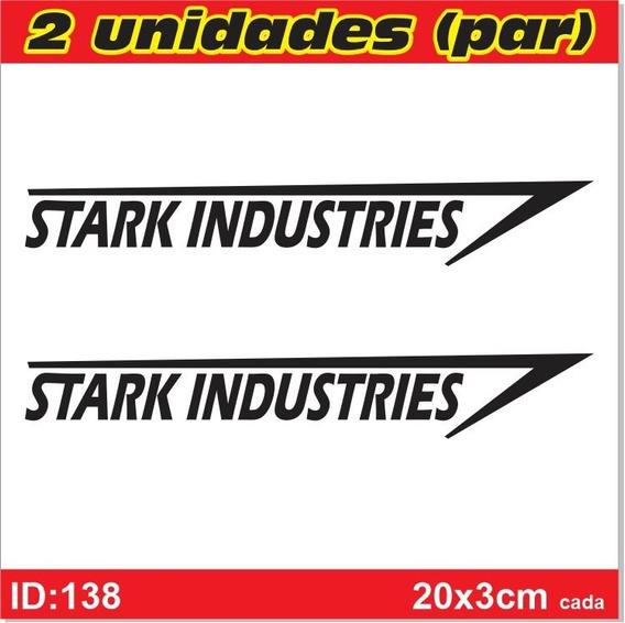 Par De Adesivos Stark Industries - Homem De Ferro - Id138