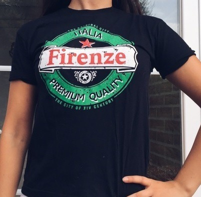Camiseta Masculina Firenze Itália Heineken Tamanho M Zerada!