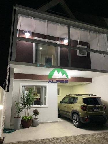 Sobrado À Venda, 163 M² Por R$ 565.000,00 - Alto Boqueirão - Curitiba/pr - So1283