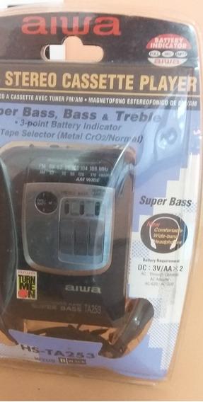 Cassette Player Aiwa Antigo Mod Hs Ta 253w