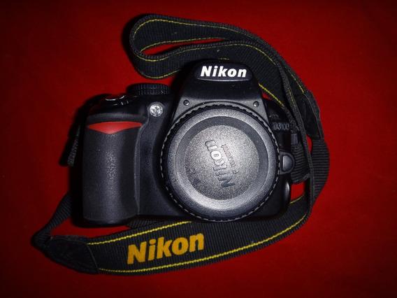 Corpo De Nikon D3100 Com Carregador E Bateria