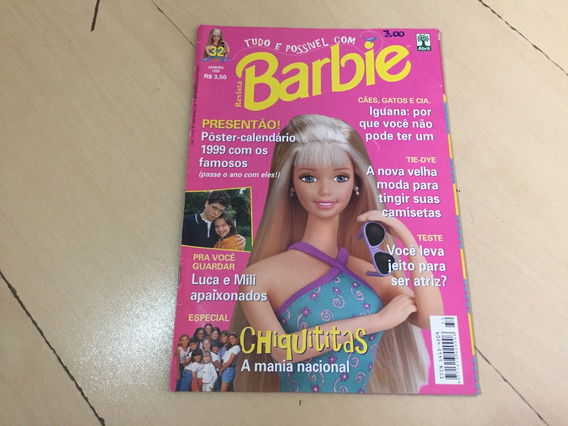 Revista Barbie 32 Chiquititas Moda Animais Luca Mili G515