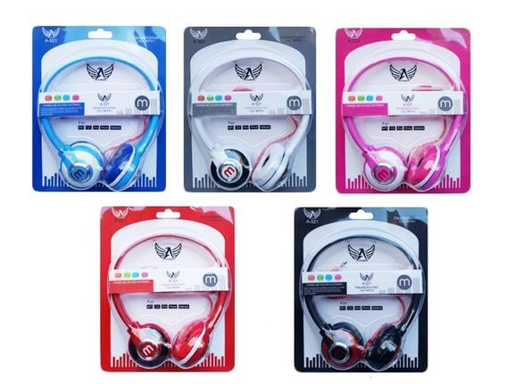 5 Fone Ouvido 521 Mex Style P/ Celular Mp3 Rádio Headfone