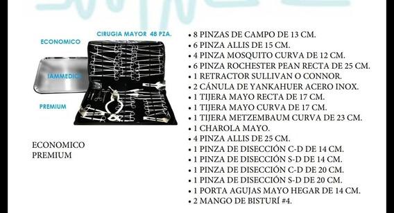 Equipo De Cirugia Mayor 48 Piezas