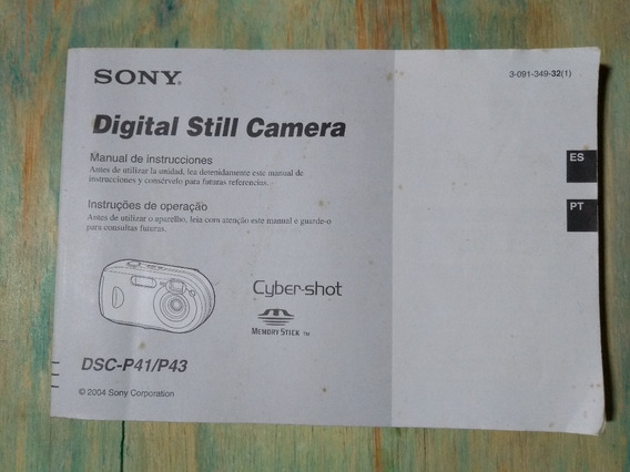 Manual Original Sony Dsc-p41/p43