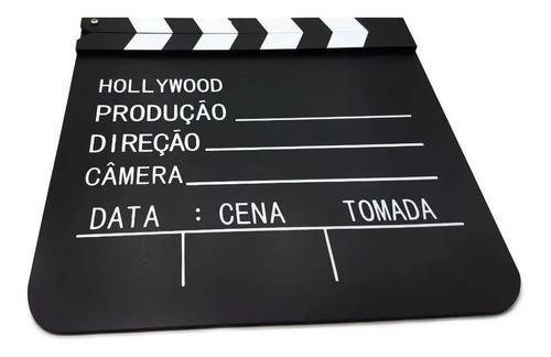 Imagem 1 de 2 de Claquete De Madeira 30x26,5cm Enfeite Decorativo Cinema