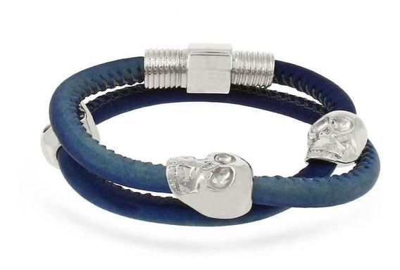 León Blanco - Brazalete Mios Patina Azul Talla S