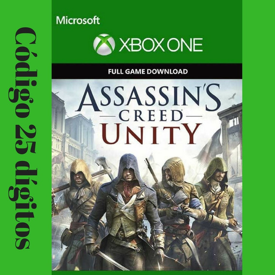 Assassins Creed Unity Xbox One Código 25 Dígitos