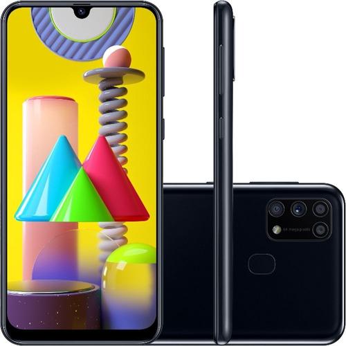Celular Smartphone Samsung Galaxy M31 Sm-m315f 128gb Preto - Dual Chip