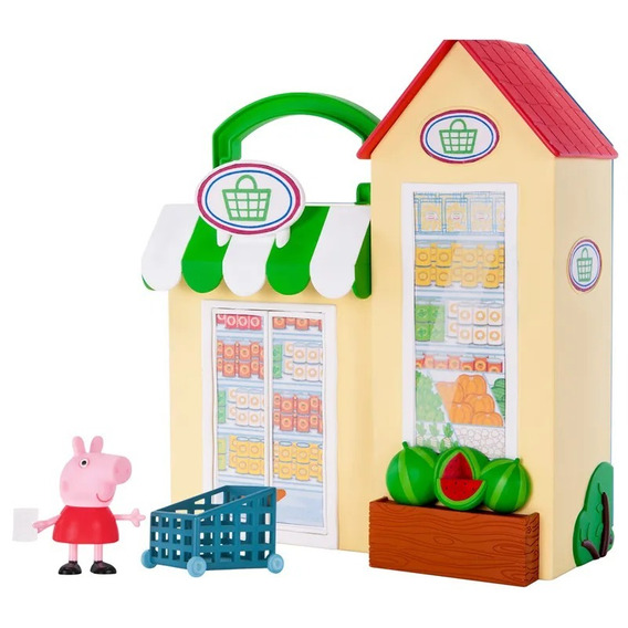 Conjunto Pequena Mercearia Peppa Pig Playset Original Dtc