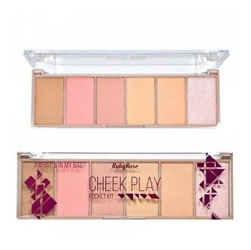Paleta Pocket Kit Maquiagem Cheek Play Ruby Rose Hb7515