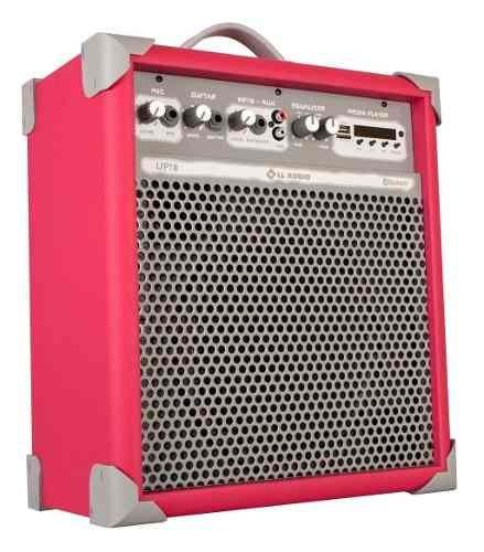Caixa De Som Multiuso Ll Up8 Com Usb E Bluetooth -vivid Pink