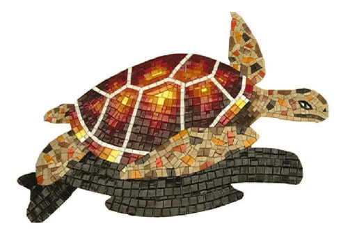 Imagen 1 de 8 de Mosaico Veneciano Figura Tortuga Oceánica De 80 Cms, Alberca