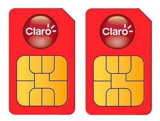 2 Unidades Sim Cards Celular Redes 4g Claro Prepago