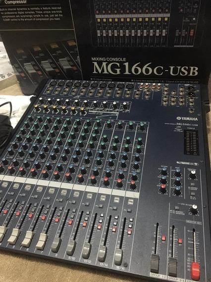 Mesa De Som Yamaha Mg166c -16 Cnl C/ Usb Na Caixa , Manual
