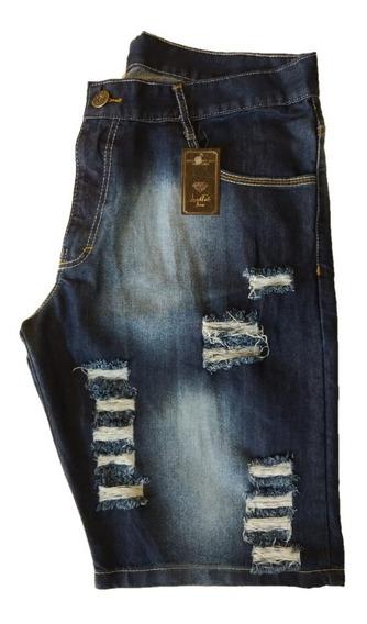 Kit 5 Bermudas Jeans Destroyed 12x S/juros Tamanhos 34 Ao 48