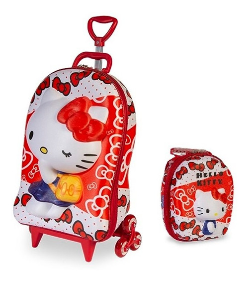 Mochila + Lancheira 3d Max Toy Hello Kitty Red