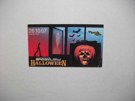 Tarjeta Del Boliche Pinar De Rocha - Dreamland / Halloween