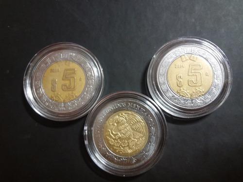 Imagen 1 de 3 de 50 Capsulas Para Monedas De 5 Pesos