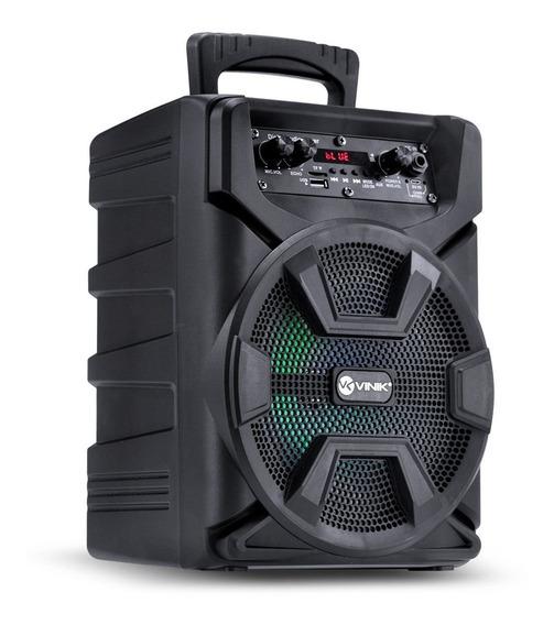 Caixa De Som Multiuso Portátil Bateria 40w 8 Pol Bluetooth