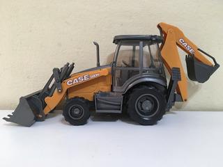 Retroescavadeira Case Miniatura Réplica Usual Brinquedos