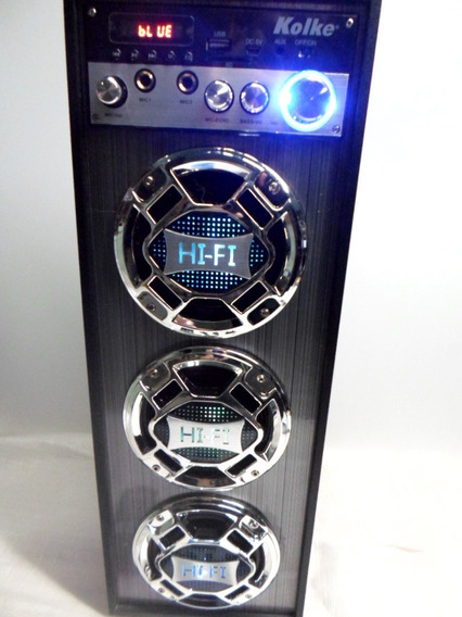 Caixa De Som Com Bluetooth Pen Drive Fm Cartão Bateria Hi Fi