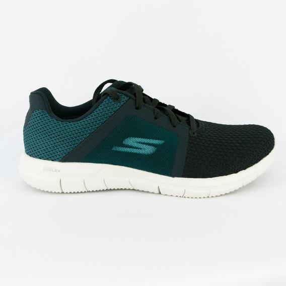 Tênis Skechers 14990/grbl Go Flex 2 Green Blue 100% Original