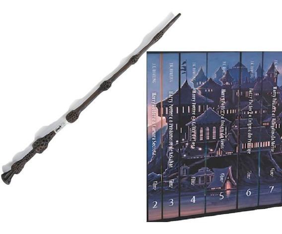 Coleção Harry Potter 6 Livros Vol 2, 3, 4, 5, 6, 7 + Varinha