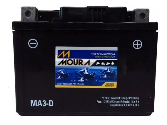 Bateria Moto Ma3-d Moura 3ah Ktm Exc Racing 4-stroke Mxc Xc