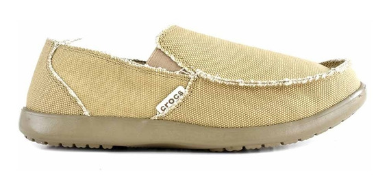 Zapatilla Hombre Crocs Mocasin Tela Confort Goma - Hcal00725