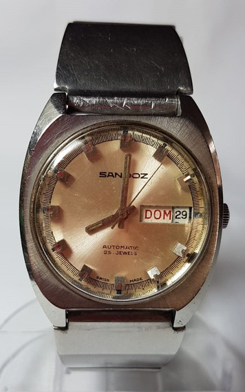 Relogio Vintage De Pulso Sandoz 25 Jewels Swiss Automatico