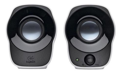 Imagem 1 de 3 de Alto-falante Logitech Z120 portátil preto e branco