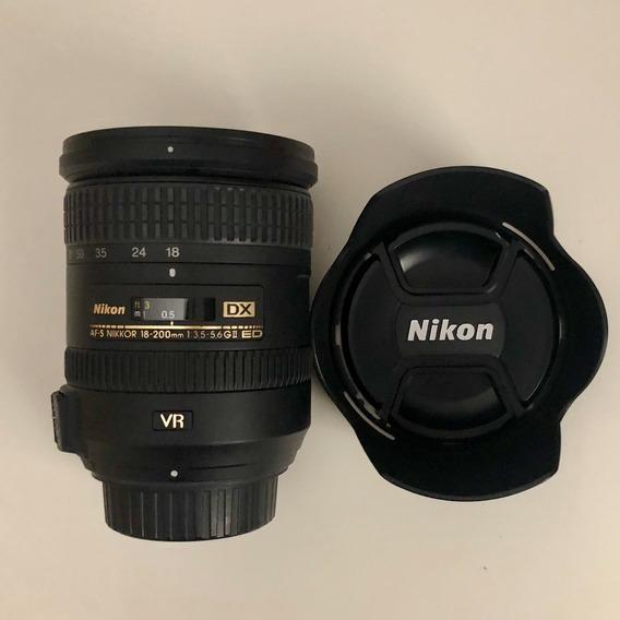 Lente Af-s Dx Nikkor 18-200mm F/3.5-5.6g Ed Vr Ii Como Nova