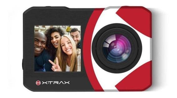 Câmera Xtrax Selfie 4k Vermelha 801021 Com Nota
