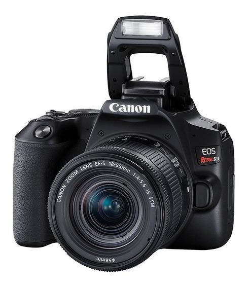 Câmera Canon Digital Profissional Rebel Sl3 18-55 4k